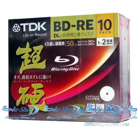 TDK Blu-ray диски BD-RE 50 ГБ 2x