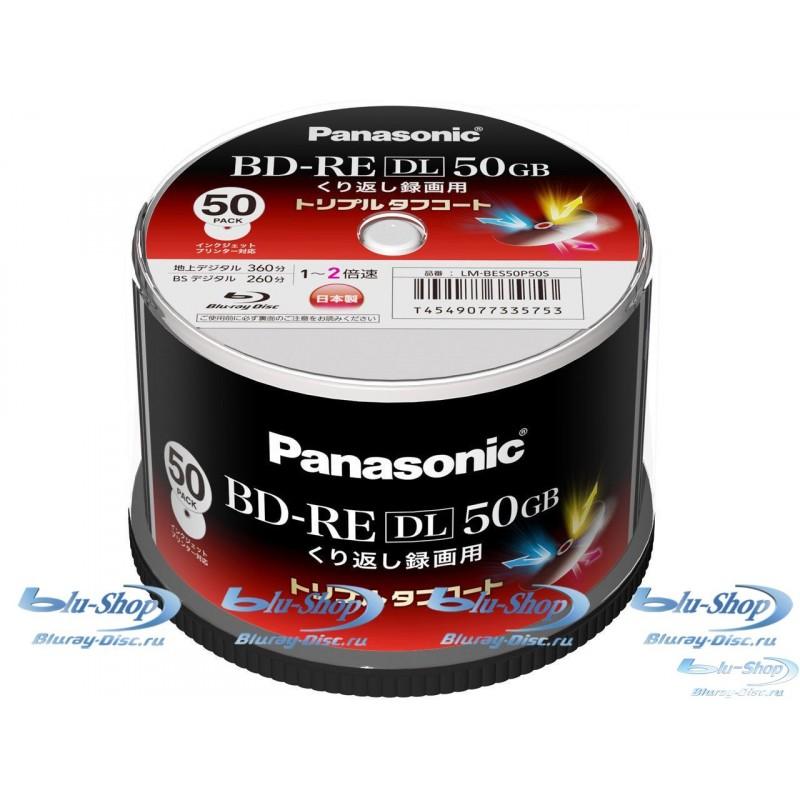 Panasonic Blu-ray диски BD-RE 50 ГБ 2x